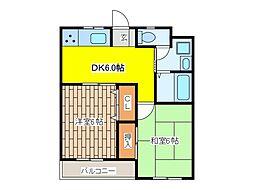 東京都府中市多磨町1丁目の賃貸マンションの間取り