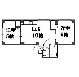 北海道札幌市豊平区中の島一条4丁目の賃貸マンションの間取り