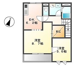 愛知県名古屋市南区鳴尾2丁目の賃貸アパートの間取り