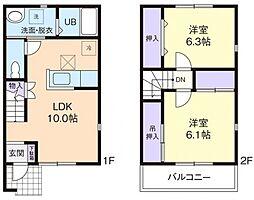 [テラスハウス] 茨城県桜川市友部 の賃貸【/】の間取り