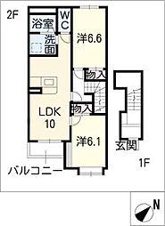 フローリィ[2階]の間取り