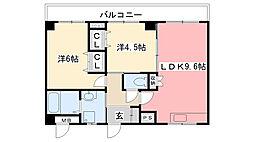 Sempre Vita南甲子園[3階]の間取り