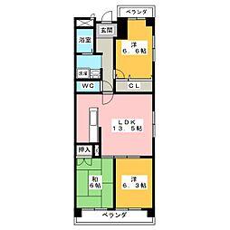 ユーハウス鶴舞II[8階]の間取り