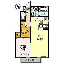 ラ・ピーノ7[1階]の間取り