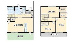 [タウンハウス] 大阪府泉南市樽井4丁目 の賃貸【/】の間取り