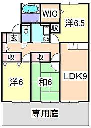 プラシード暖家[1階]の間取り
