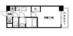S-RESIDENCE新大阪駅前[7階]の間取り