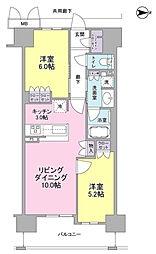 ザ・大阪レジデンス備後町[14階]の間取り