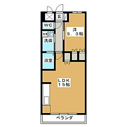ヴェルメゾン[3階]の間取り