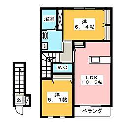 グローリオ[2階]の間取り