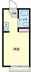 神奈川県横浜市泉区下和泉1丁目の賃貸アパートの間取り