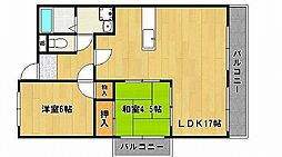 兵庫県姫路市白国1丁目の賃貸マンションの間取り