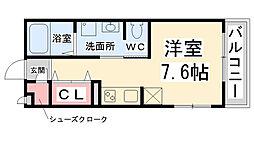 フロントハウス[A211号室]の間取り