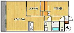 ヴィラ・ローランマンション[2階]の間取り