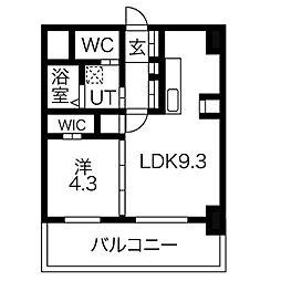 F013[803号室]の間取り