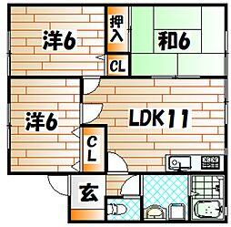 セジュール尾倉[2階]の間取り