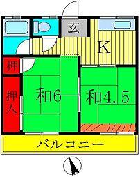 メゾン八ヶ崎A[2階]の間取り