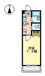アプローズ[4階]の間取り