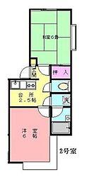小野ハイツ[2階]の間取り