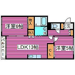 北海道札幌市北区篠路六条6丁目の賃貸アパートの間取り
