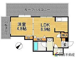 グレイスフルマンション舞松原[405号室]の間取り