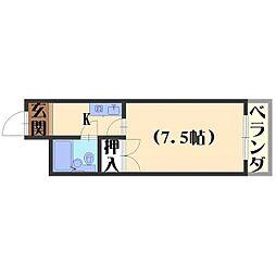 長岡ロイヤルパレス[A302号室]の間取り
