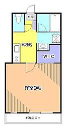 ガーデンホワイト[1階]の間取り