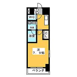 サムティ熱田RESIDENCE 8階1Kの間取り