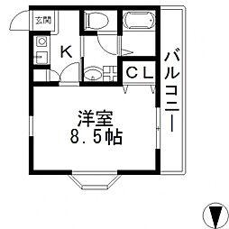 アデレード長田[301号室号室]の間取り