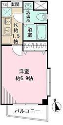 東京都中野区大和町3丁目の賃貸マンションの間取り