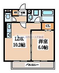 仮称)東大阪市徳和ハイツ[1階]の間取り