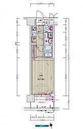 ララプレイス大阪城公園ノルド 9階1Kの間取り