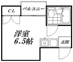Osaka Metro谷町線 守口駅 徒歩7分の賃貸マンション 3階ワンルームの間取り