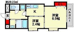 福岡県福岡市南区大楠3丁目の賃貸マンションの間取り