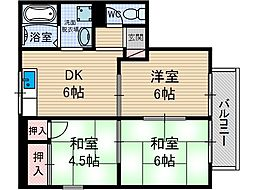 ルヴェール A棟[2階]の間取り