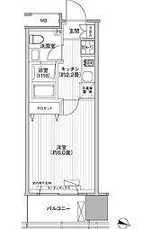 JR総武線 市ヶ谷駅 徒歩5分の賃貸マンション 5階1Kの間取り