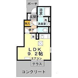ダリアB[1階]の間取り