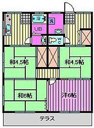 神明ハイム[1階]の間取り