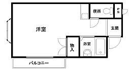 フジコーマンション小松里[301号室]の間取り