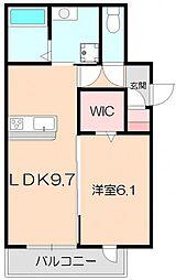 D-room中桜塚1丁目[A201号室]の間取り
