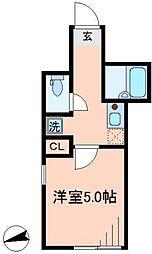 シャイニーソフト新宿御苑[101号室号室]の間取り