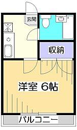 東京都小金井市貫井南町5丁目の賃貸アパートの間取り