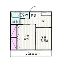 静岡県裾野市公文名の賃貸アパートの間取り