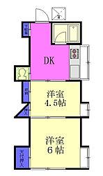 壽荘[1階]の間取り