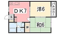 コーポ三木[201号室]の間取り