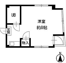 神奈川県横浜市中区末吉町2丁目の賃貸マンションの間取り