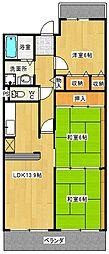 ラポール山賀[701号室]の間取り