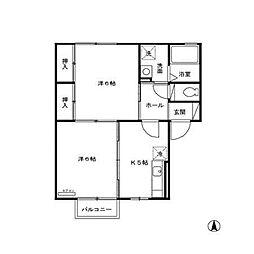 セジュールYj[1階]の間取り