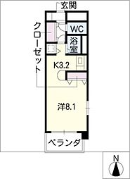 ラナ・清水野[2階]の間取り
