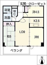 日映マンションIII[3階]の間取り